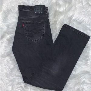 Men Levi's Dark Gray STRAIGHT LEG Jeans 34 x 36